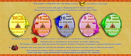 Choy Sun Doa Slot Bonus